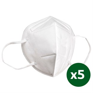 Securex N95 FFP2 N95 Mask Without Valve - 5 Pieces